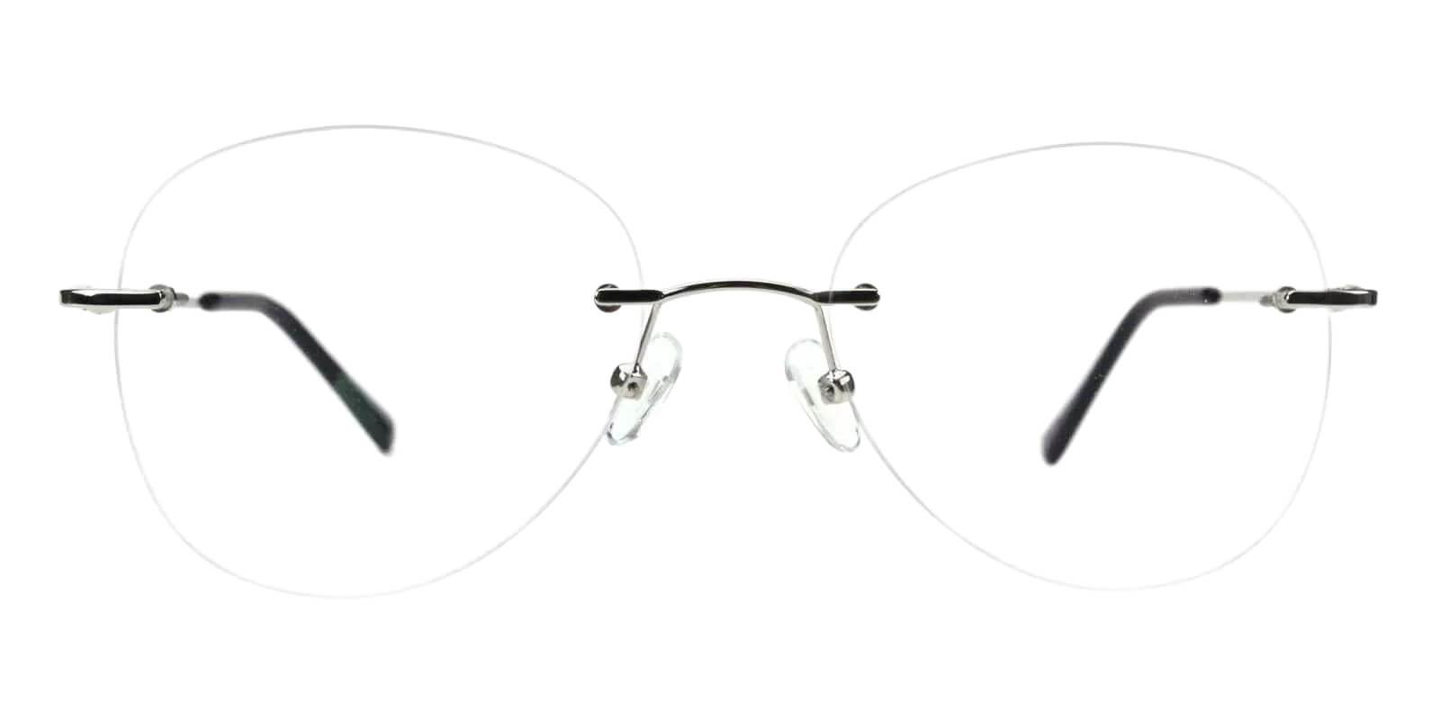 Paul Silver Metal Eyeglasses , Fashion , NosePads Frames from ABBE Glasses