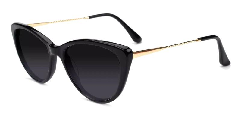 Black Benson - Combination Fashion , SpringHinges , Sunglasses , UniversalBridgeFit