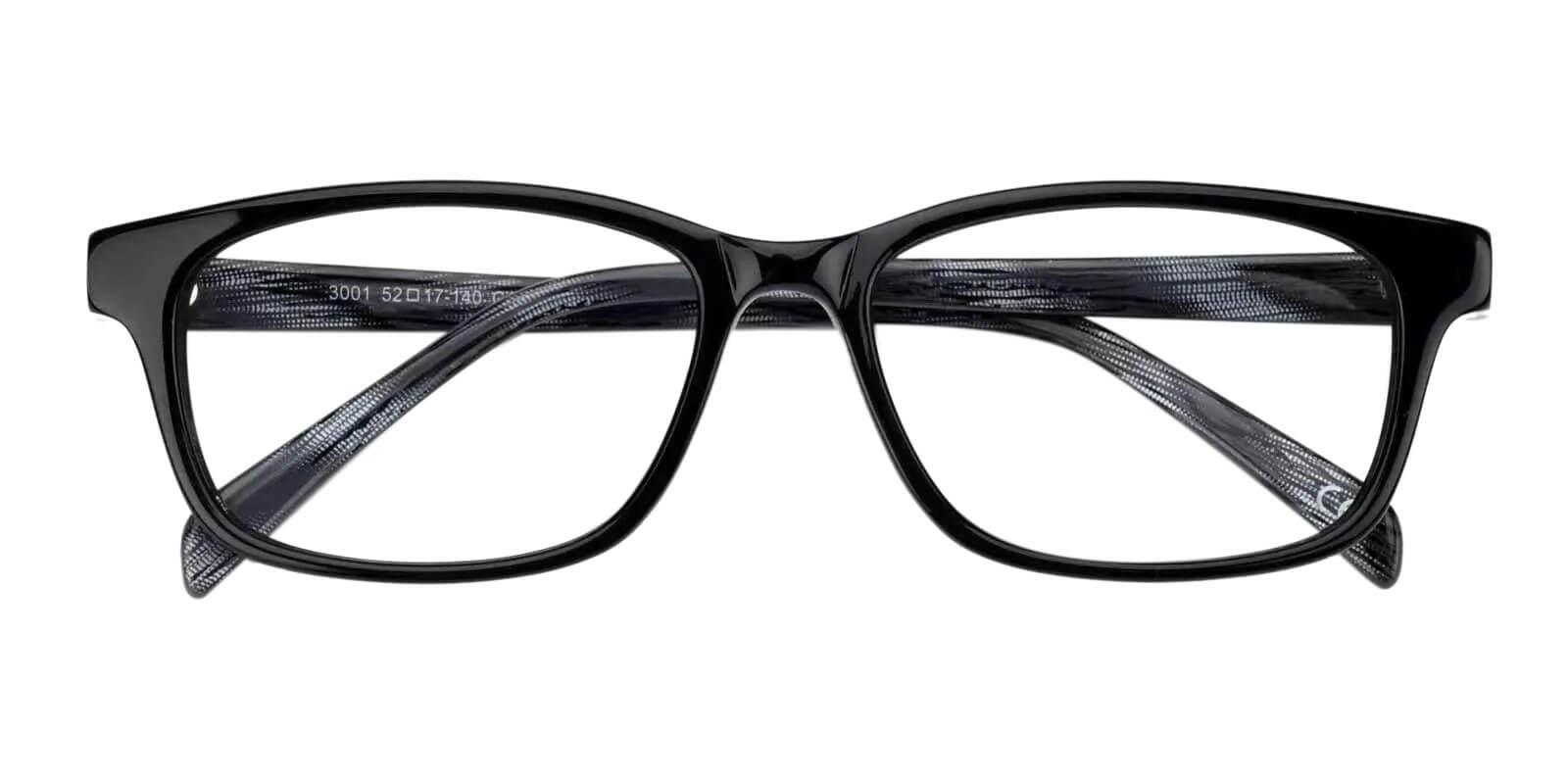 Emmi Black Acetate Eyeglasses , Fashion , UniversalBridgeFit Frames from ABBE Glasses