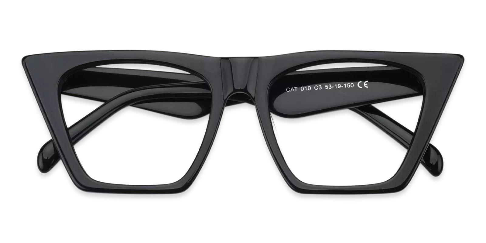 Haley Black Acetate Eyeglasses , Fashion , UniversalBridgeFit Frames from ABBE Glasses