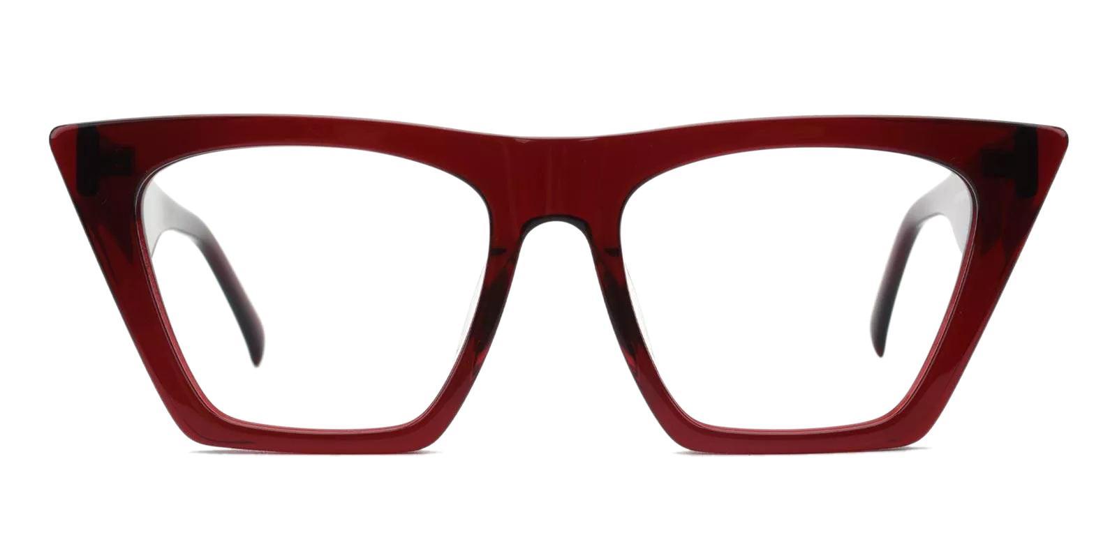 Haley Red Acetate Eyeglasses , Fashion , UniversalBridgeFit Frames from ABBE Glasses