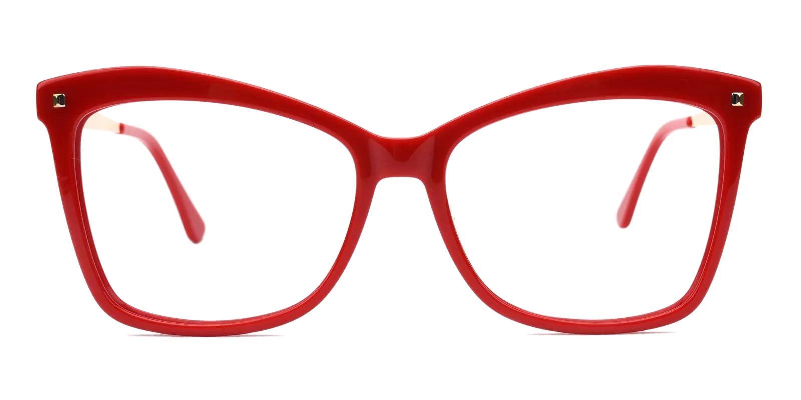 Bertha Red Acetate , Metal Eyeglasses , Fashion , UniversalBridgeFit Frames from ABBE Glasses