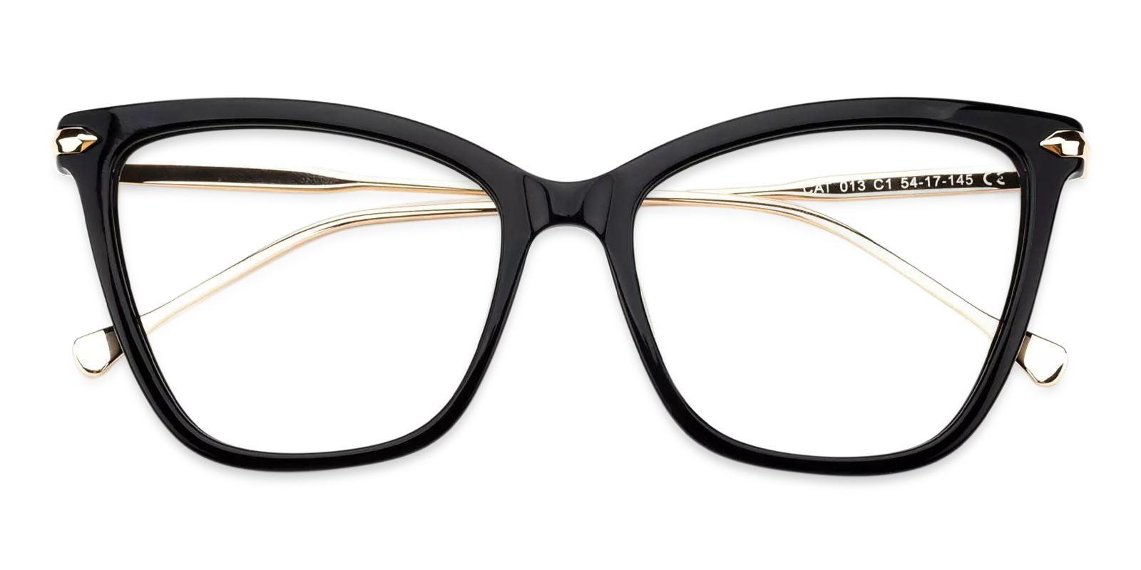 Gosse Black Acetate , Metal Eyeglasses , Fashion , UniversalBridgeFit Frames from ABBE Glasses