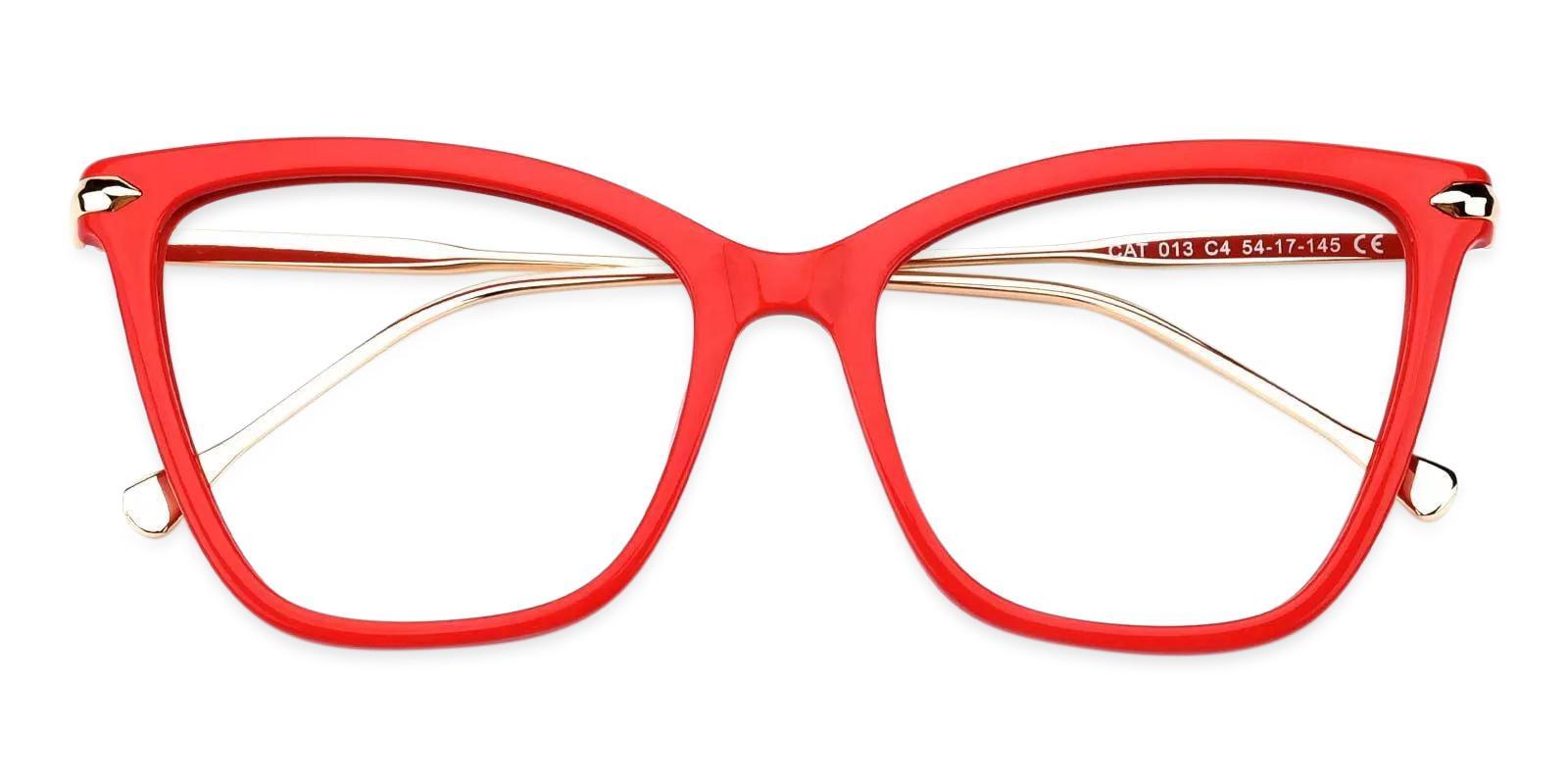 Gosse Red Acetate , Metal Eyeglasses , Fashion , UniversalBridgeFit Frames from ABBE Glasses