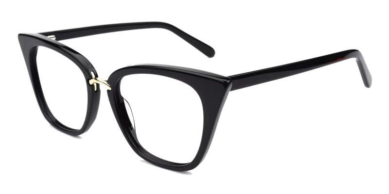 Black Jasmine - Acetate , Metal Eyeglasses , Fashion , SpringHinges , UniversalBridgeFit