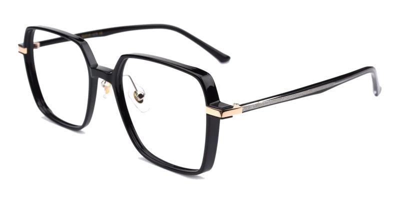 Black Flora - TR Eyeglasses , Fashion , NosePads