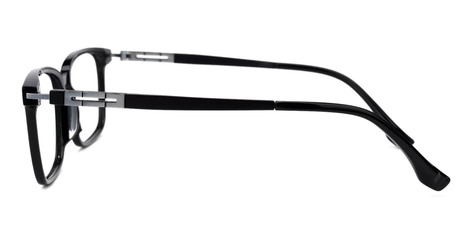 Unique Black Combination Eyeglasses , Fashion , SpringHinges , UniversalBridgeFit Frames from ABBE Glasses