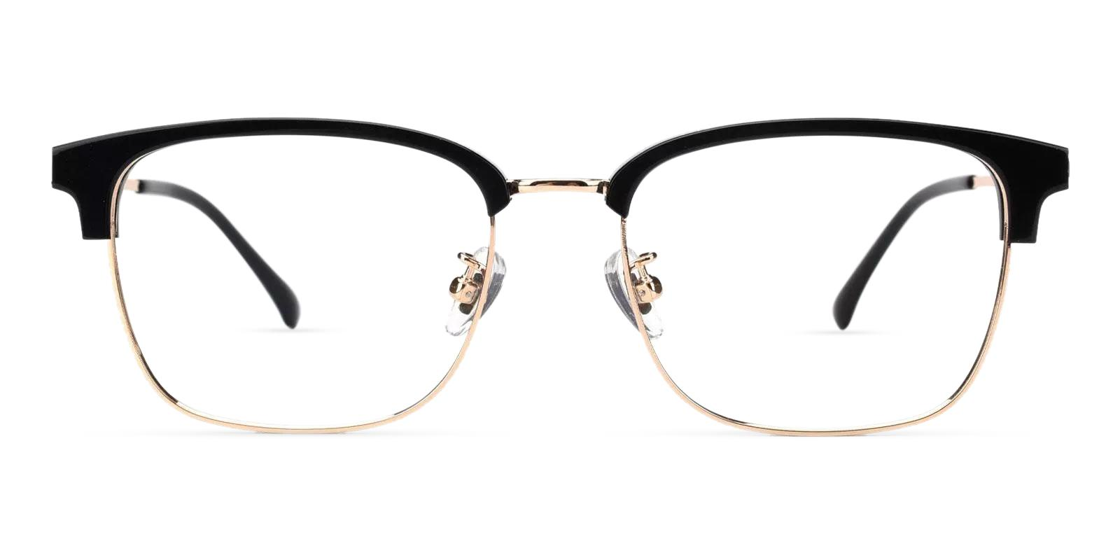 Kenneth Gold Combination Eyeglasses , Fashion , NosePads , SpringHinges Frames from ABBE Glasses