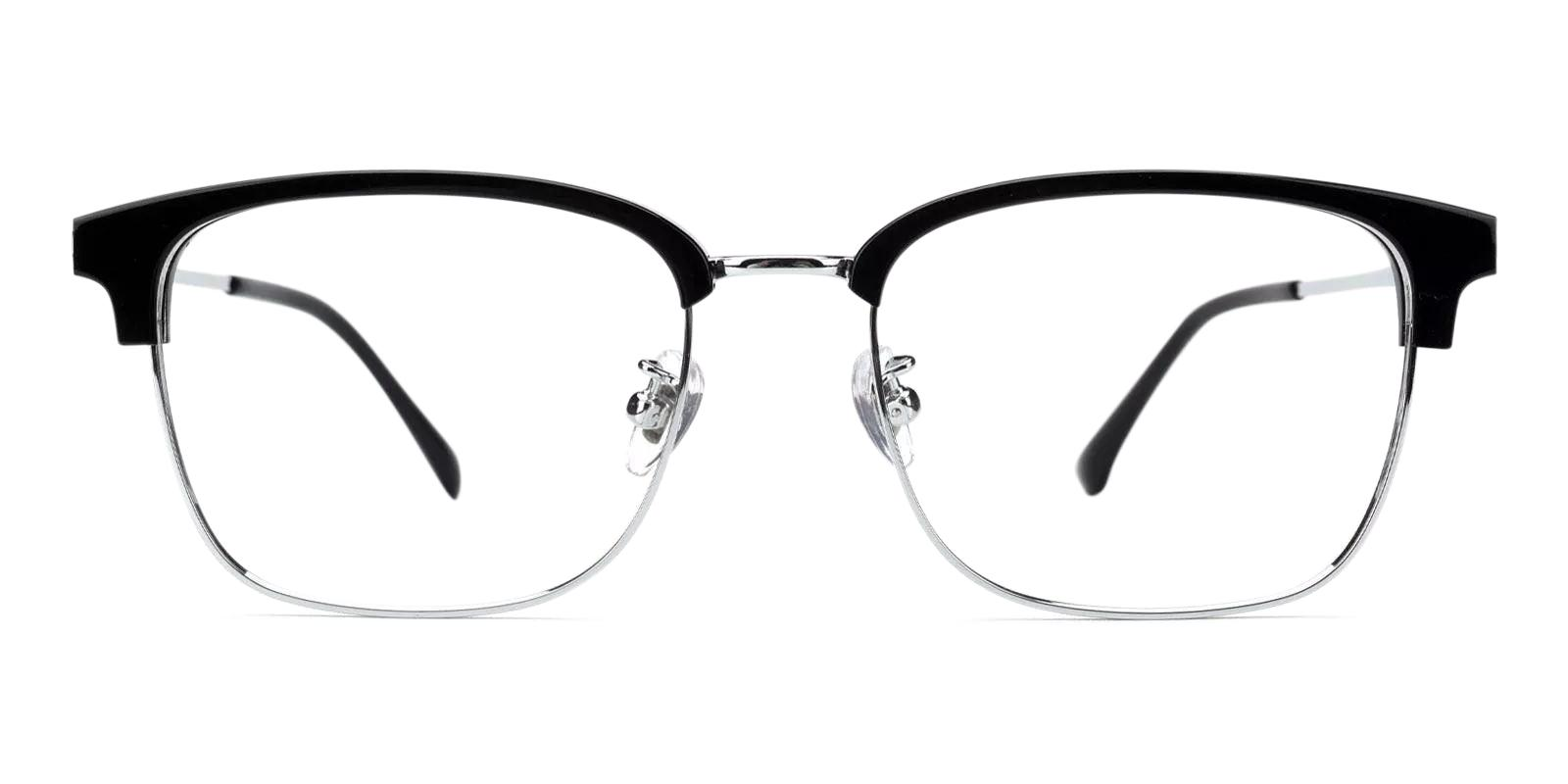 Kenneth Silver Combination Eyeglasses , Fashion , NosePads , SpringHinges Frames from ABBE Glasses