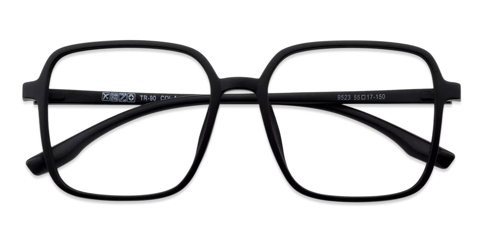 Rainbow Black Plastic Eyeglasses , Fashion , UniversalBridgeFit Frames from ABBE Glasses