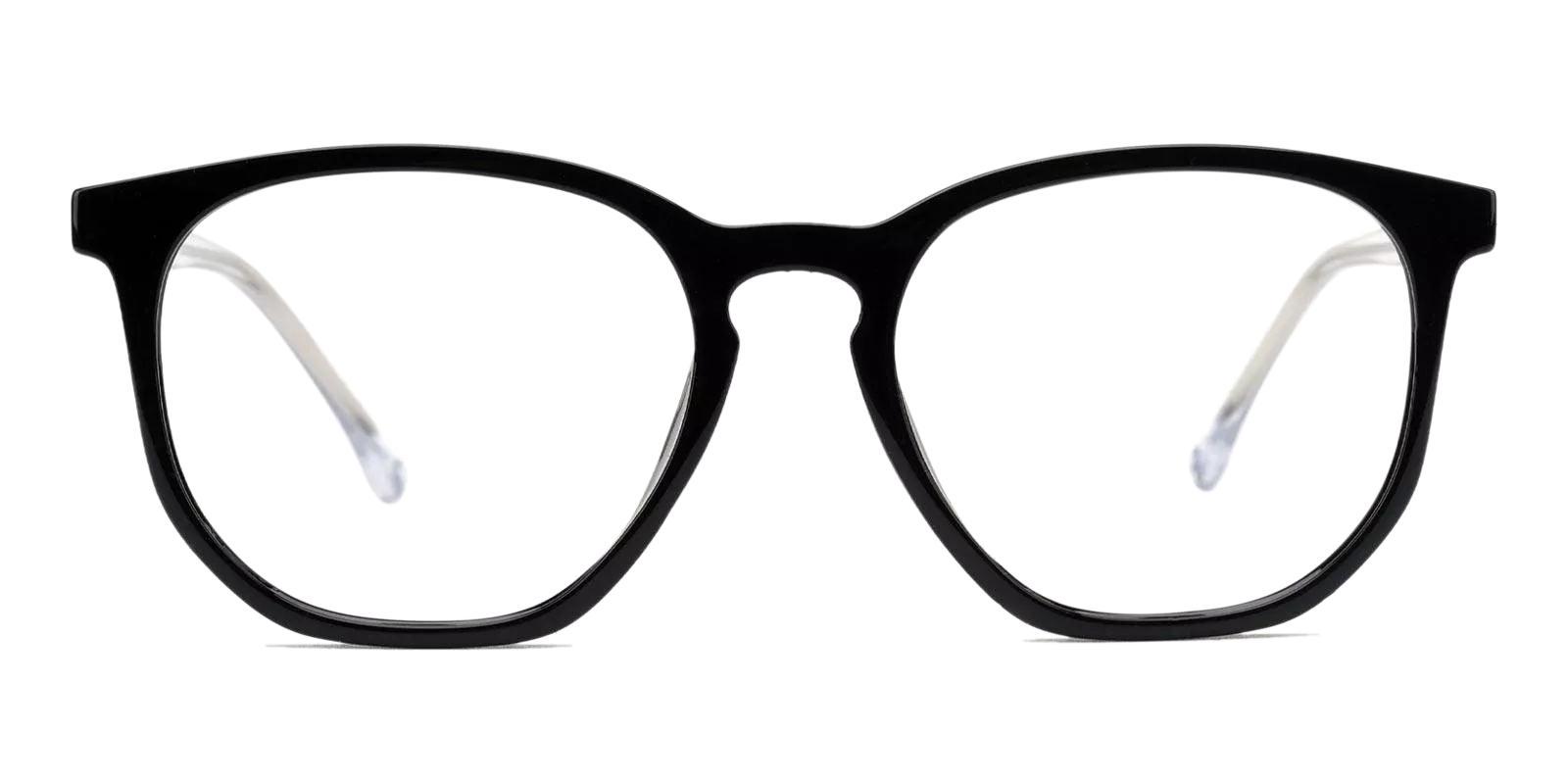 Russell Black TR Eyeglasses , Fashion , UniversalBridgeFit Frames from ABBE Glasses
