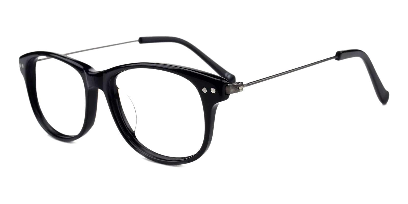Corey Black Combination Eyeglasses , Fashion , UniversalBridgeFit Frames from ABBE Glasses