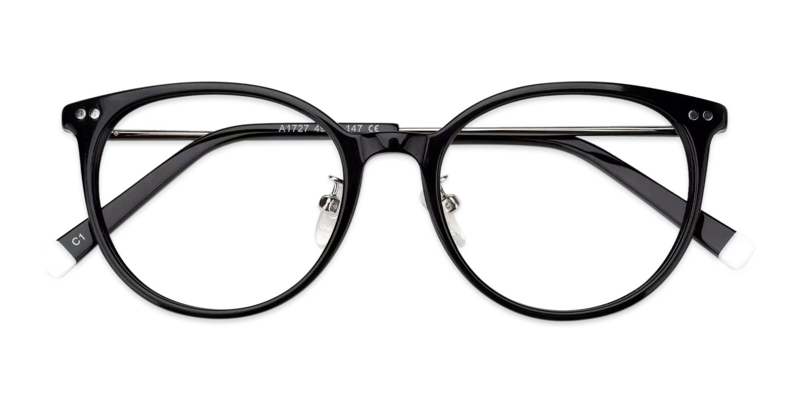 Lenny Black Combination Eyeglasses , Fashion , NosePads Frames from ABBE Glasses