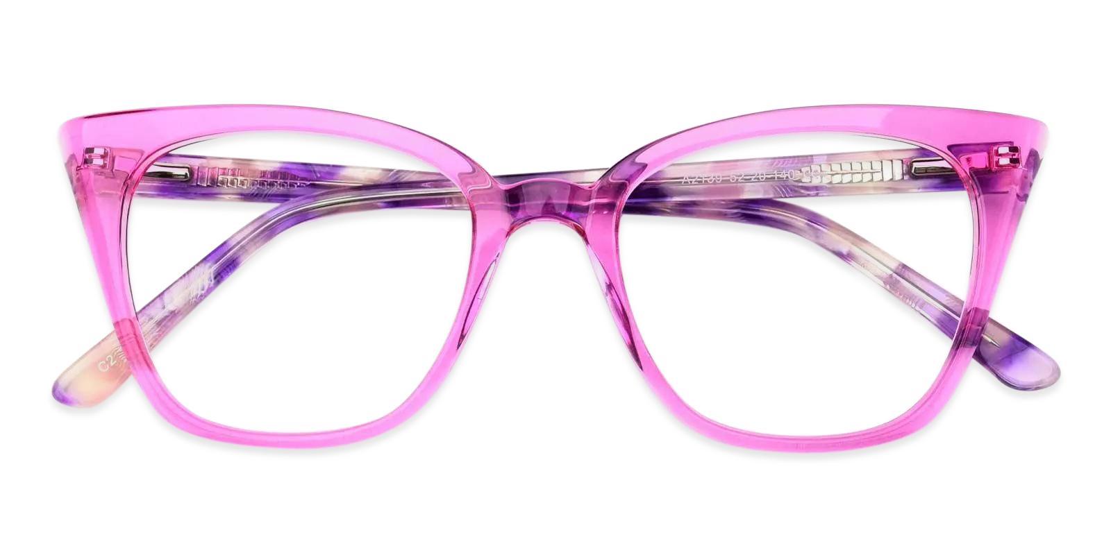 Colman Purple Acetate Eyeglasses , Fashion , SpringHinges , UniversalBridgeFit Frames from ABBE Glasses