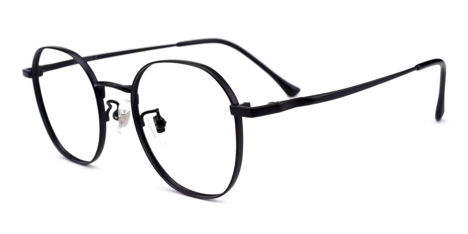 Community Black Metal Eyeglasses , Fashion , NosePads Frames from ABBE Glasses