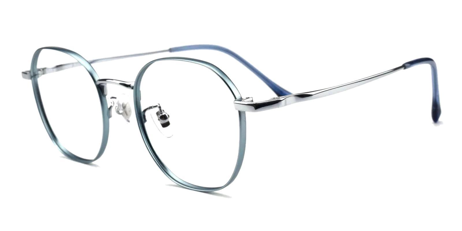Community Blue Metal Eyeglasses , Fashion , NosePads Frames from ABBE Glasses