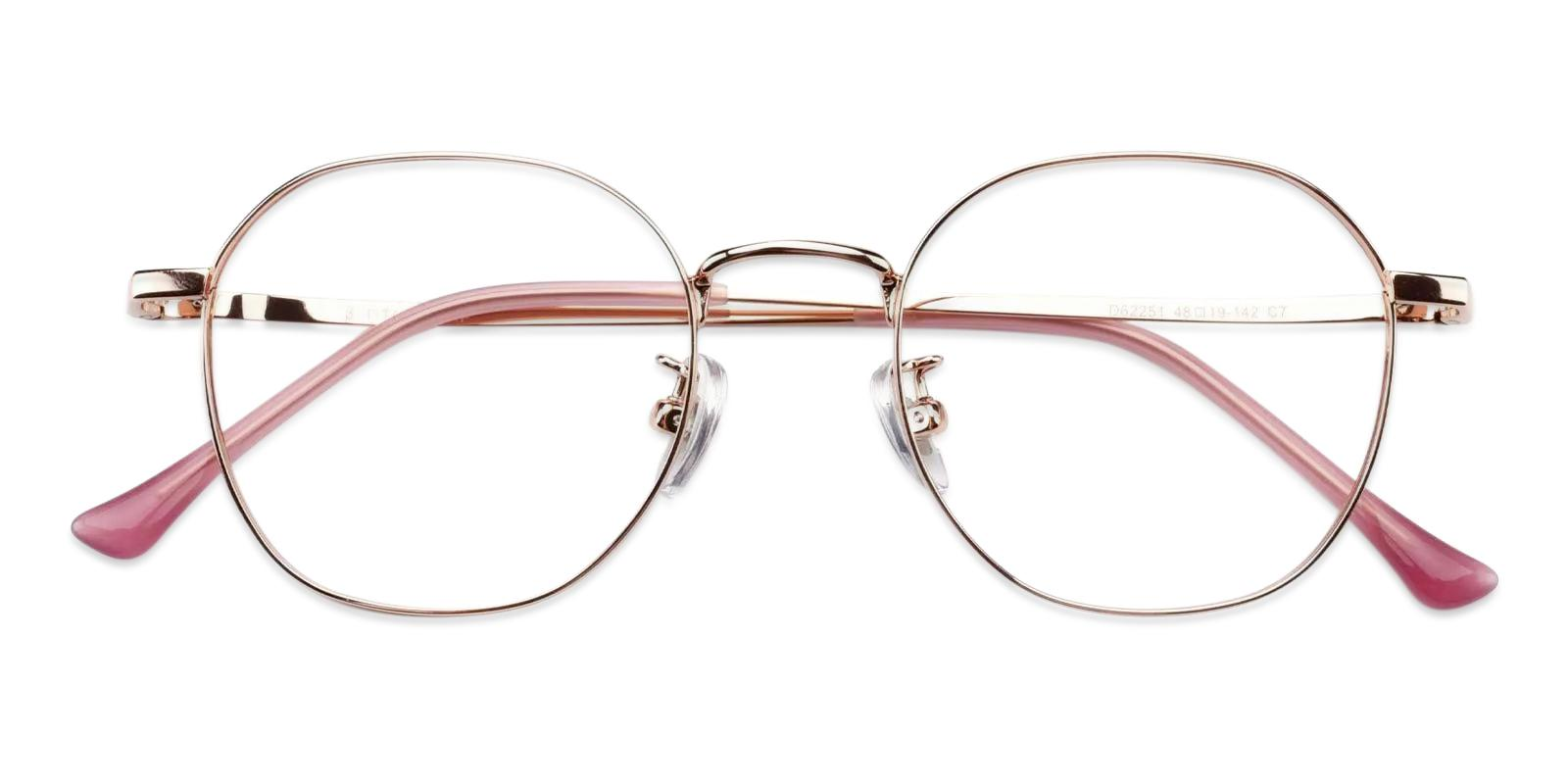 Community Pink Metal Eyeglasses , Fashion , NosePads Frames from ABBE Glasses