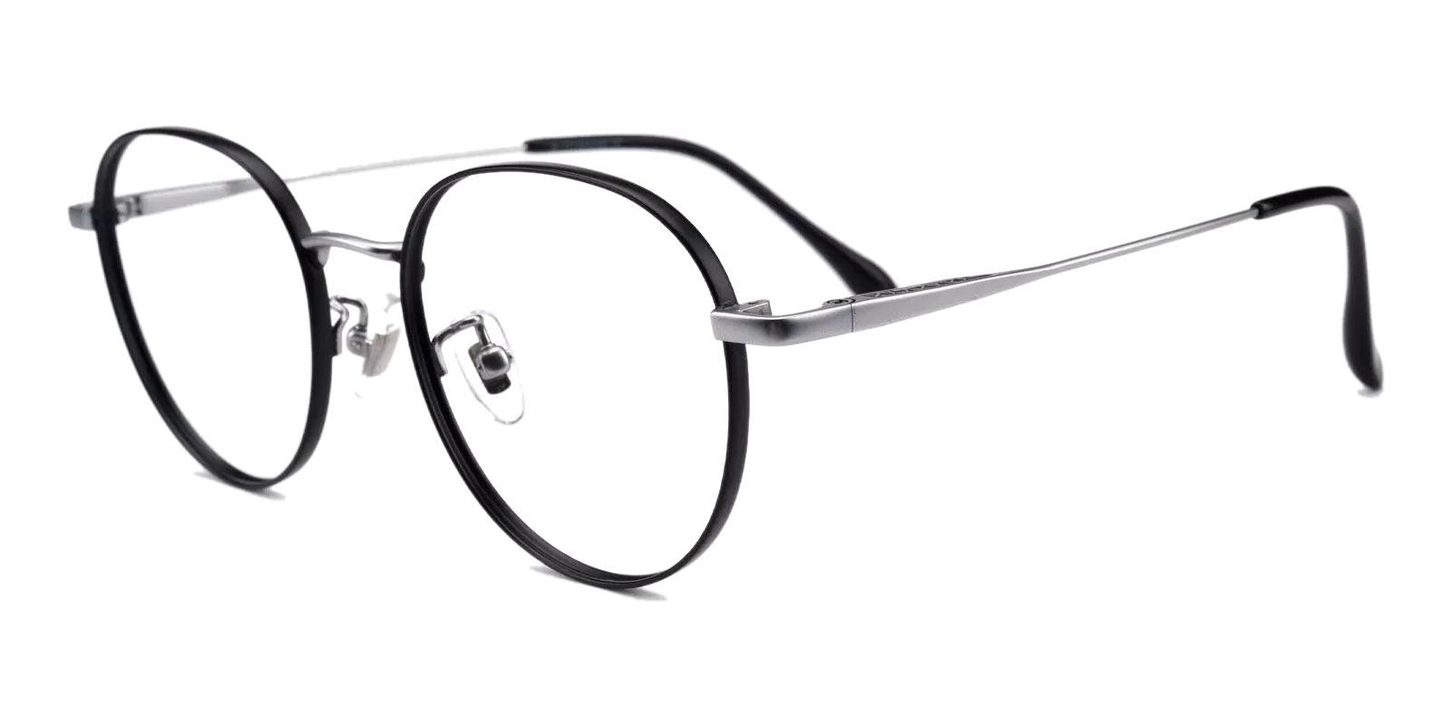 Randy Black Metal Eyeglasses , Fashion , NosePads Frames from ABBE Glasses
