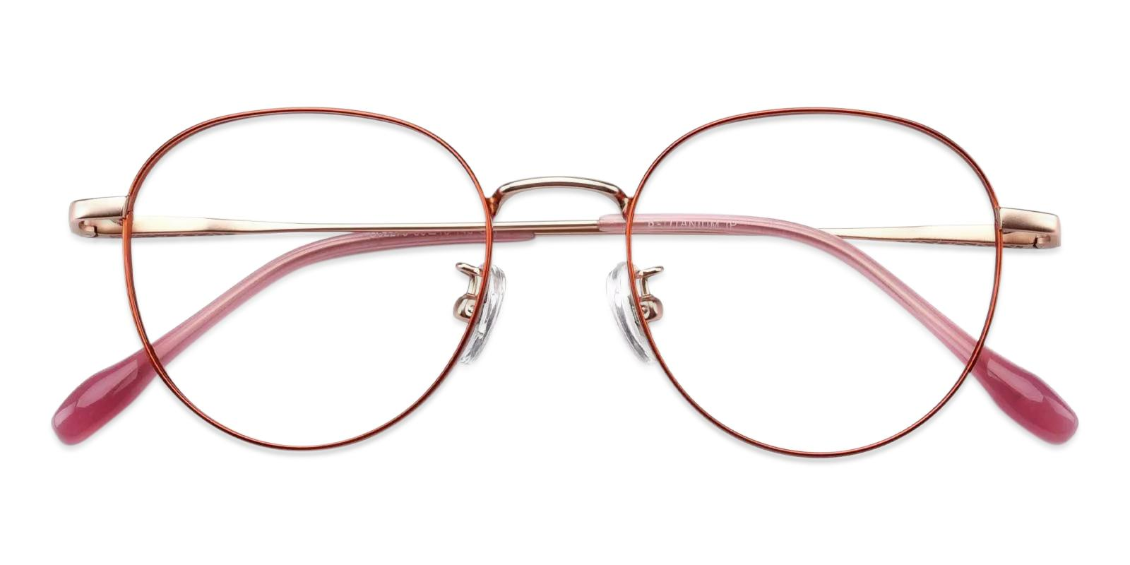 Randy Orange Metal Eyeglasses , Fashion , NosePads Frames from ABBE Glasses