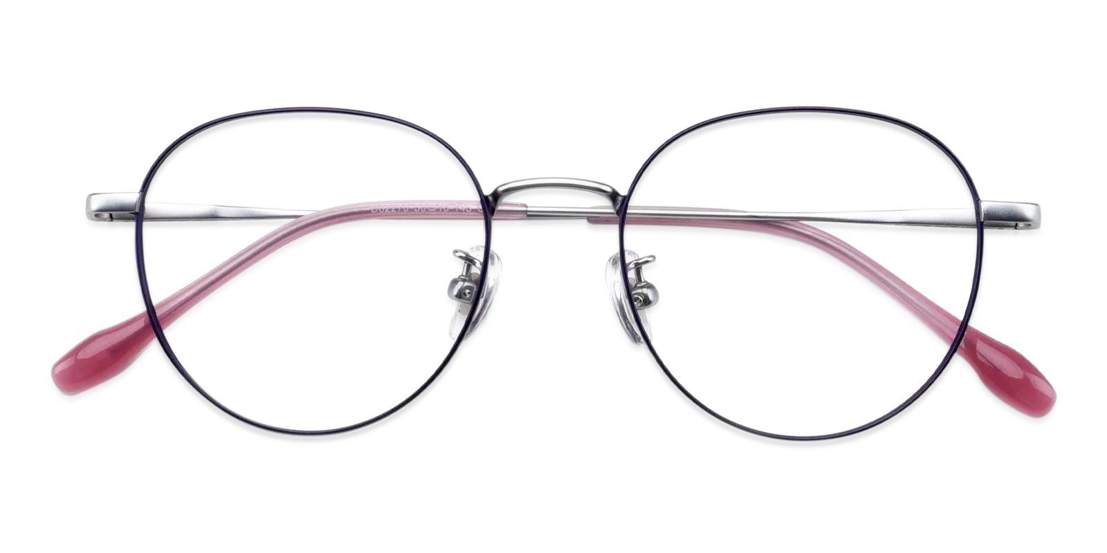 Randy Purple Metal Eyeglasses , Fashion , NosePads Frames from ABBE Glasses