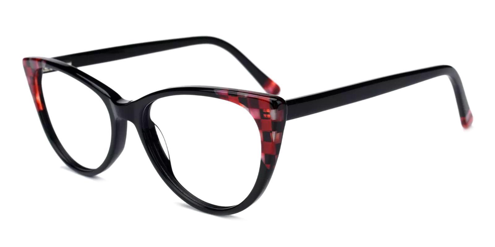 Reily Black Acetate Eyeglasses , Fashion , SpringHinges , UniversalBridgeFit Frames from ABBE Glasses
