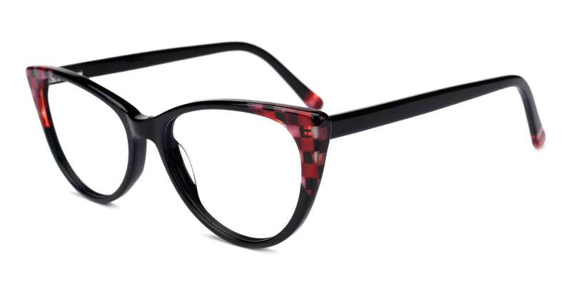 Black Reily - Acetate ,Universal Bridge Fit