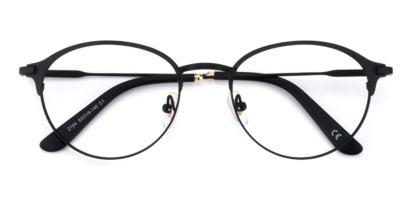 Irvin Black Metal Eyeglasses , Fashion , NosePads Frames from ABBE Glasses
