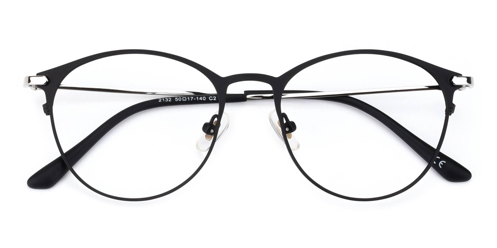 Persisto Black Metal Eyeglasses , Fashion , NosePads Frames from ABBE Glasses