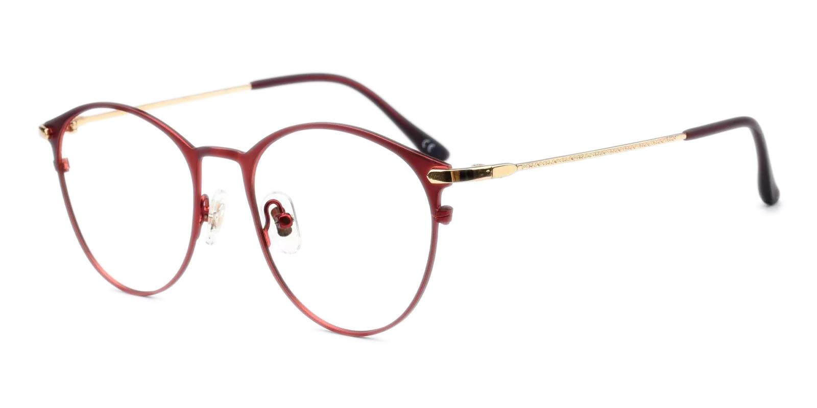 Persisto Red Metal Eyeglasses , Fashion , NosePads Frames from ABBE Glasses