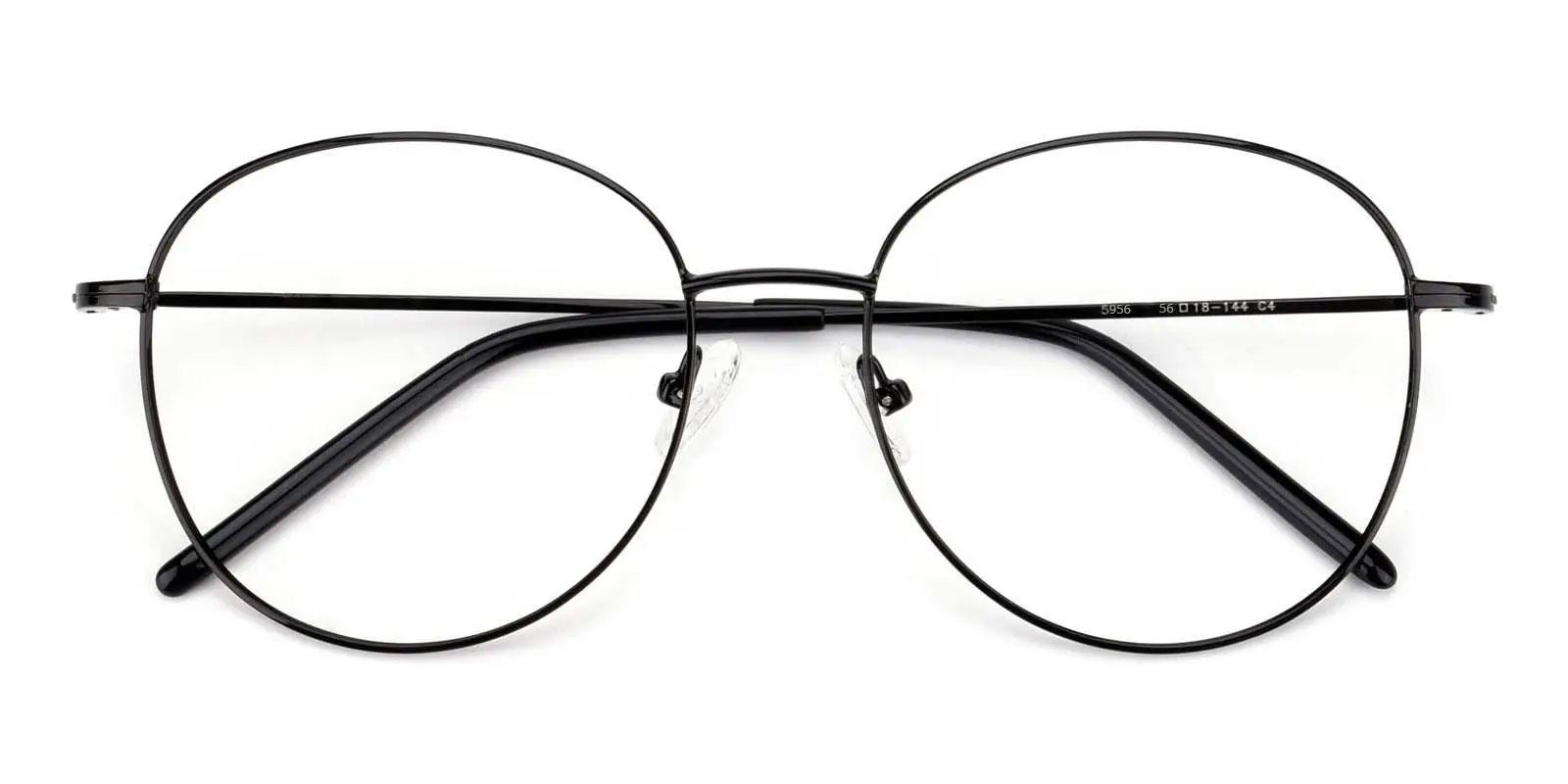 Usman Black Metal Eyeglasses , Fashion , NosePads Frames from ABBE Glasses
