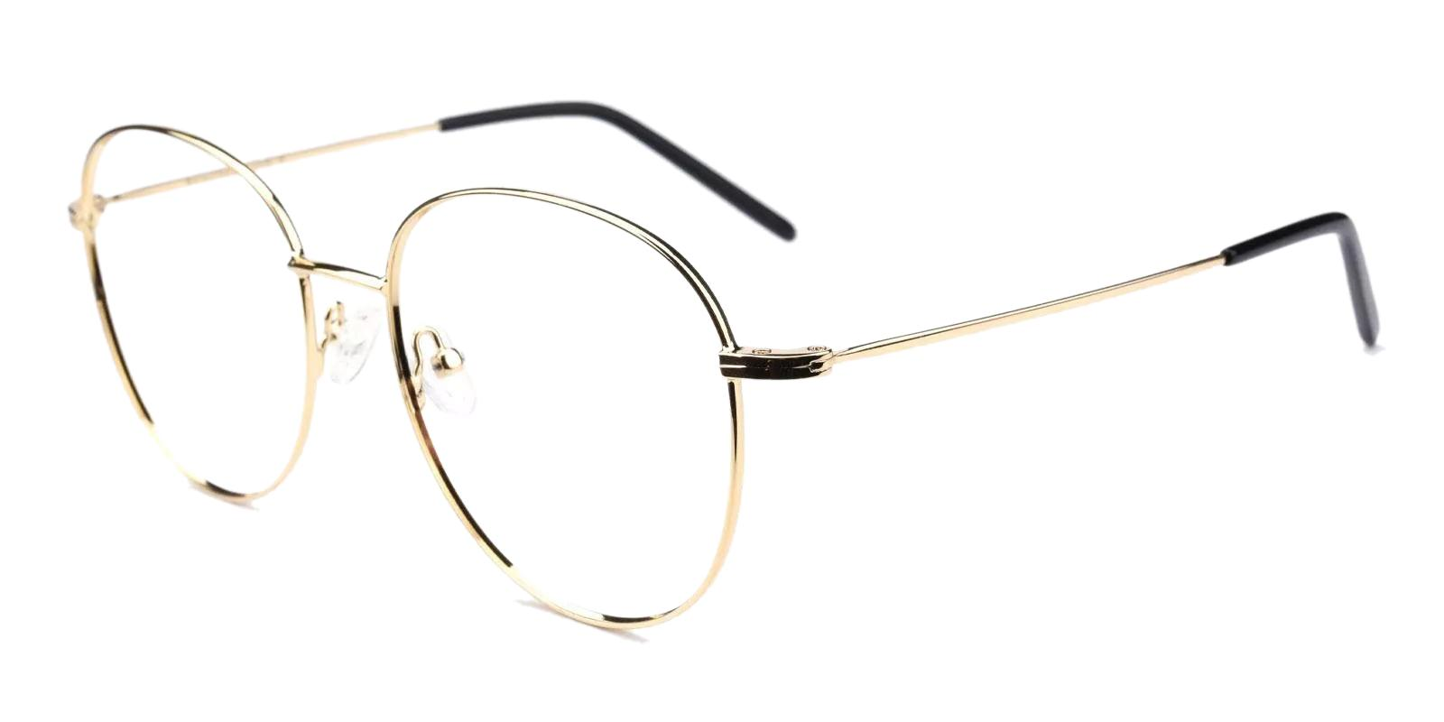 Usman Gold Metal Eyeglasses , Fashion , NosePads Frames from ABBE Glasses