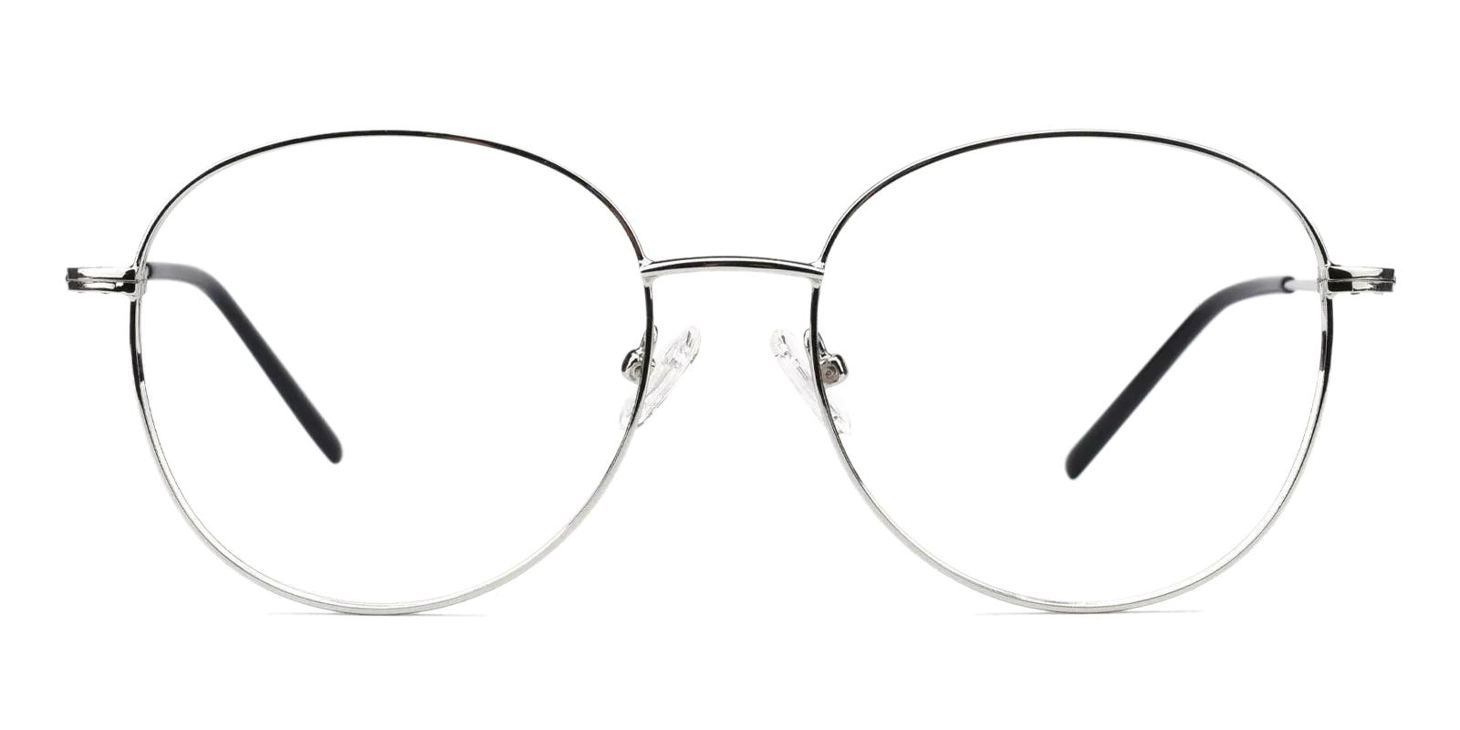 Usman Silver Metal Eyeglasses , Fashion , NosePads Frames from ABBE Glasses