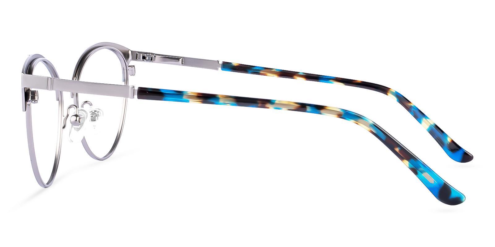 Huxley Blue Metal Eyeglasses , Fashion , NosePads , SpringHinges Frames from ABBE Glasses