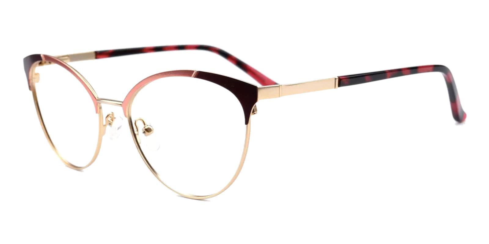 Huxley Red Metal Eyeglasses , Fashion , NosePads , SpringHinges Frames from ABBE Glasses