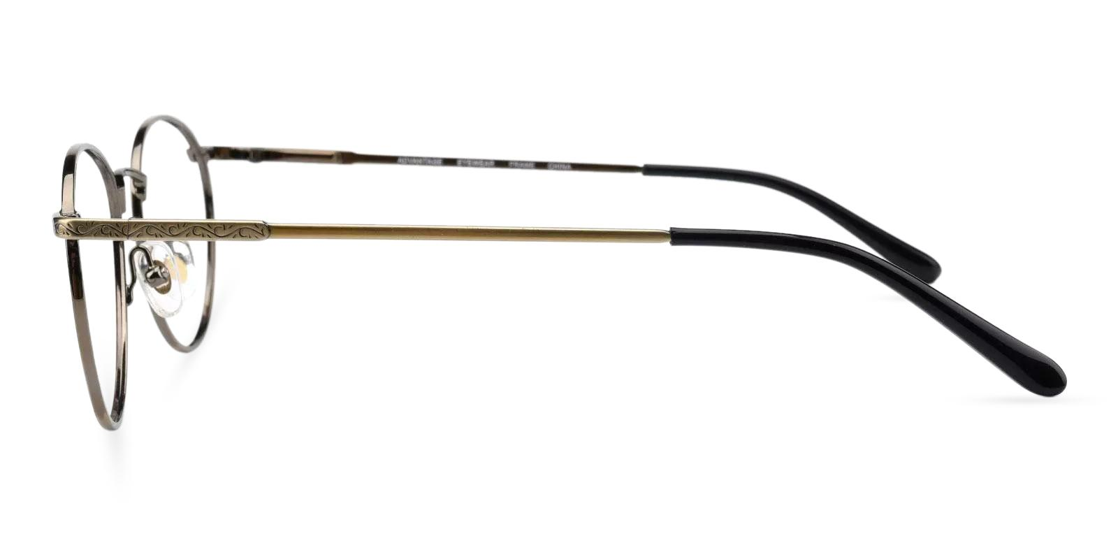 Glib Brown Metal Eyeglasses , Fashion , NosePads , SpringHinges Frames from ABBE Glasses
