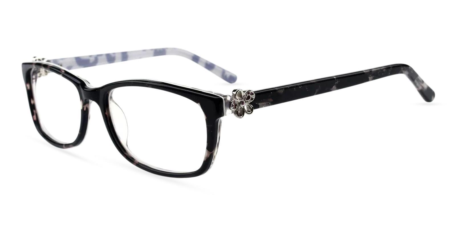 Rosa Black Acetate Eyeglasses , Fashion , UniversalBridgeFit Frames from ABBE Glasses