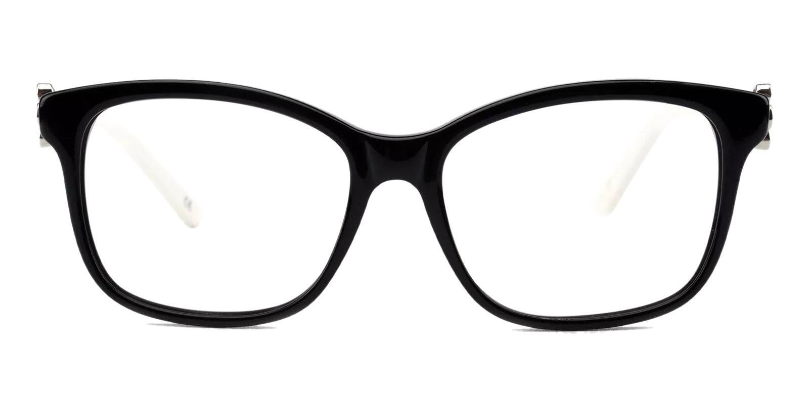 Paula Black Acetate Eyeglasses , Fashion , UniversalBridgeFit Frames from ABBE Glasses