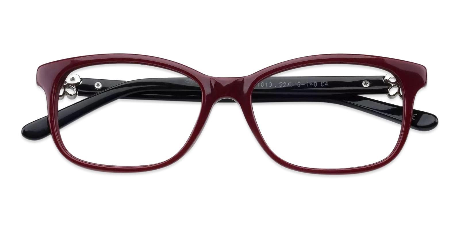 Paula Red Acetate Eyeglasses , Fashion , UniversalBridgeFit Frames from ABBE Glasses
