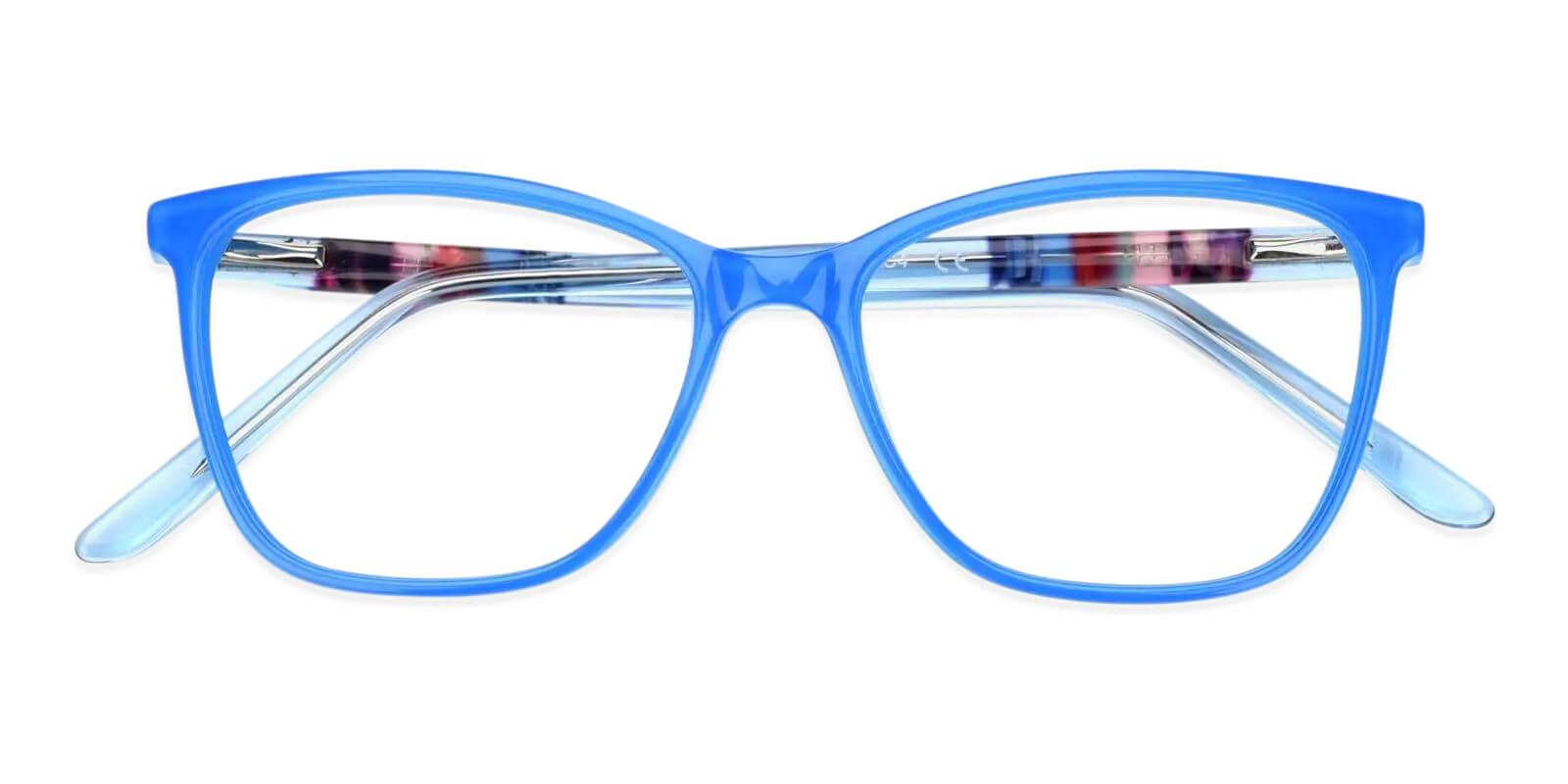 Mitchell Blue Acetate Eyeglasses , Fashion , SpringHinges , UniversalBridgeFit Frames from ABBE Glasses