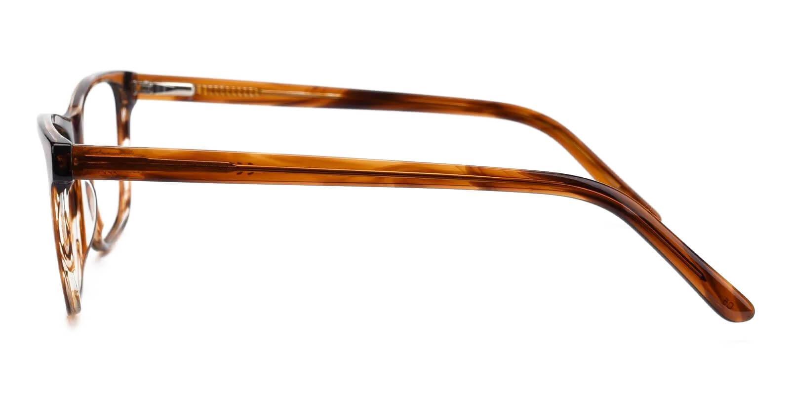 Esther Brown Acetate Eyeglasses , Fashion , SpringHinges , UniversalBridgeFit Frames from ABBE Glasses