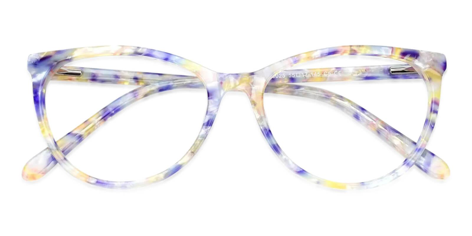 Lochlosa Blue Acetate Eyeglasses , Fashion , SpringHinges , UniversalBridgeFit Frames from ABBE Glasses