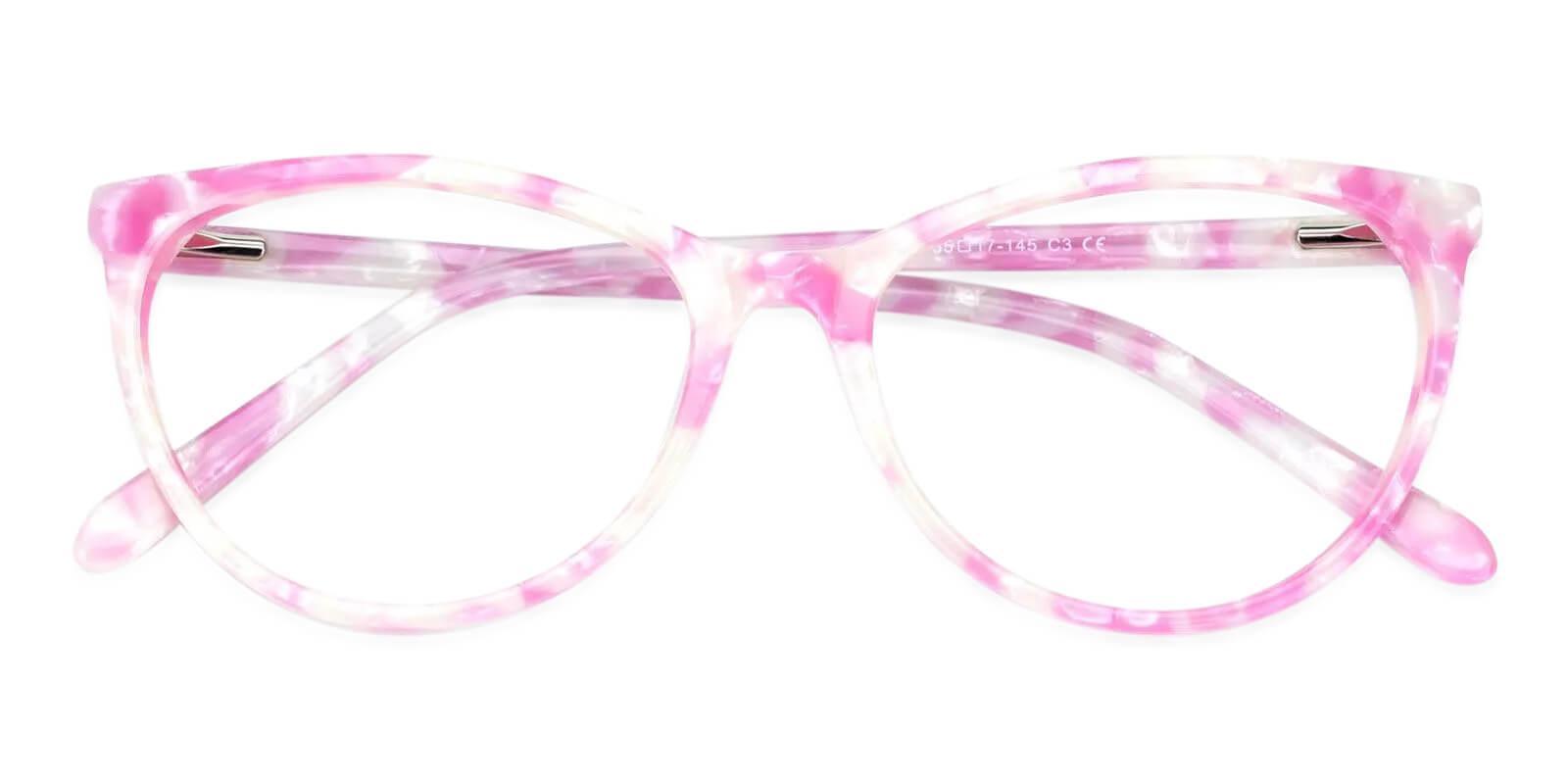 Lochlosa Pink Acetate Eyeglasses , Fashion , SpringHinges , UniversalBridgeFit Frames from ABBE Glasses