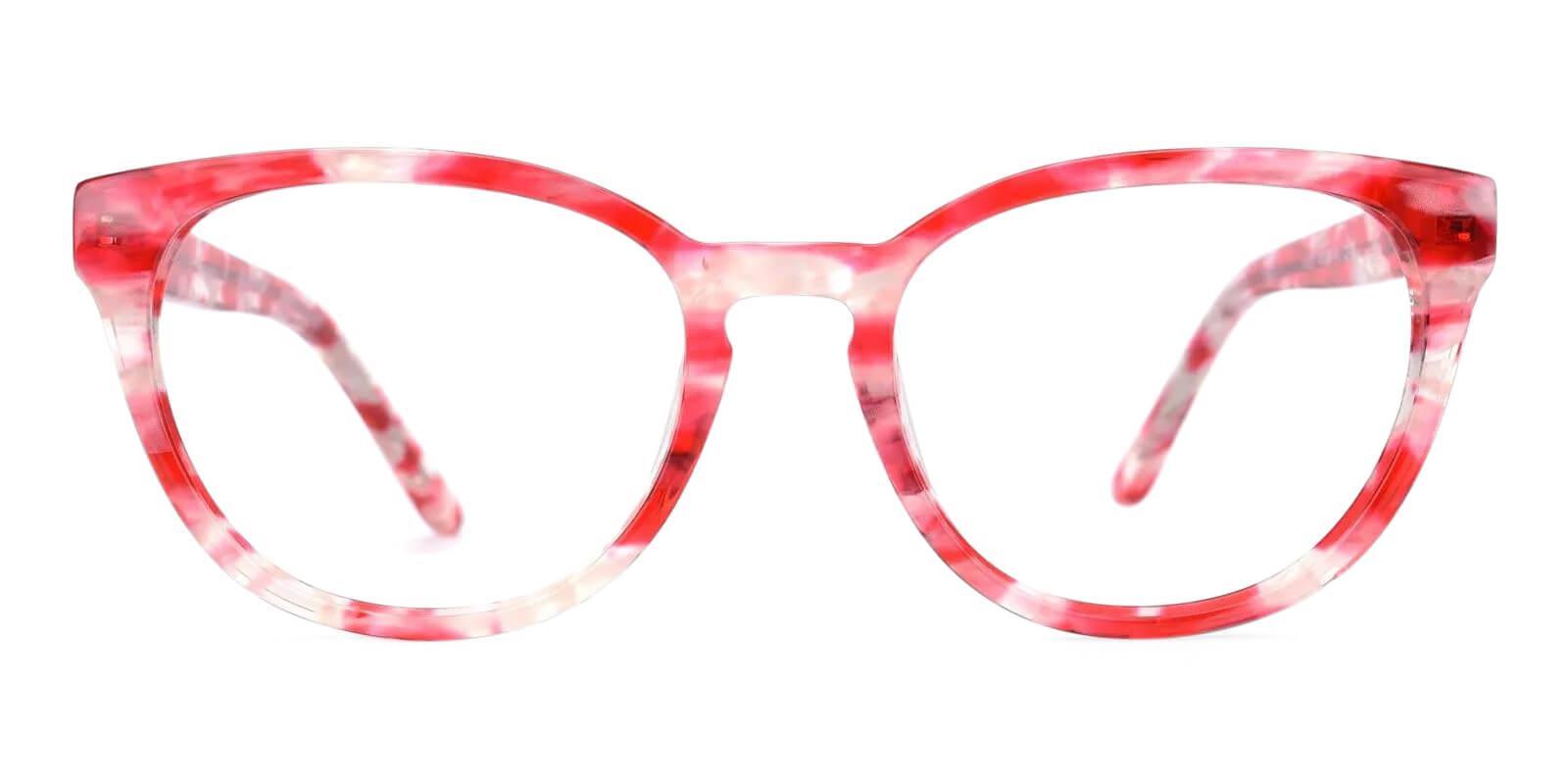 Quauetom Red Acetate Eyeglasses , Fashion , SpringHinges , UniversalBridgeFit Frames from ABBE Glasses
