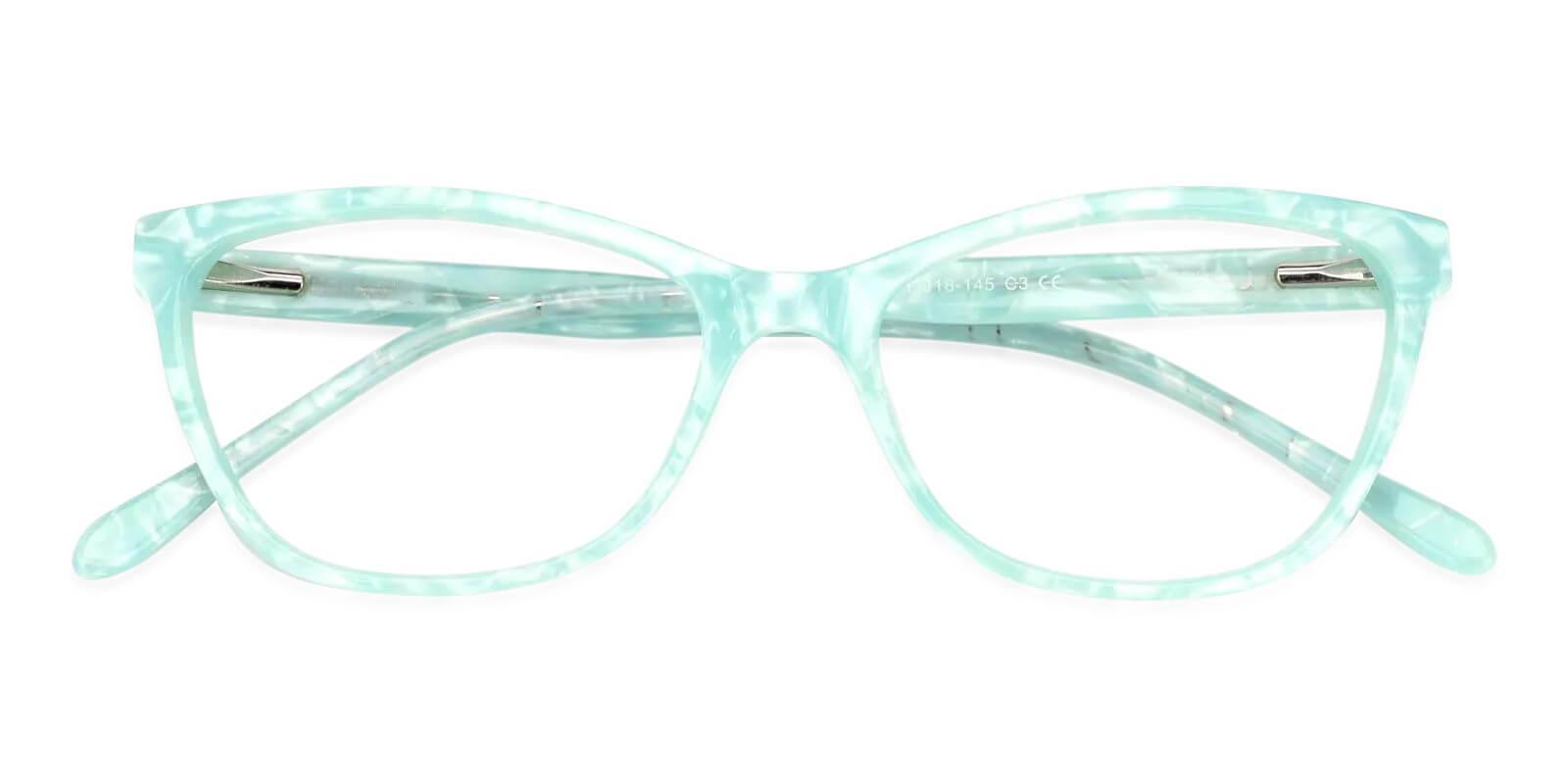 Spindan Green Acetate Eyeglasses , Fashion , SpringHinges , UniversalBridgeFit Frames from ABBE Glasses