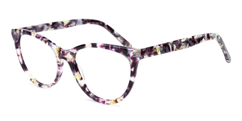 Purple Kristin - Acetate ,Universal Bridge Fit