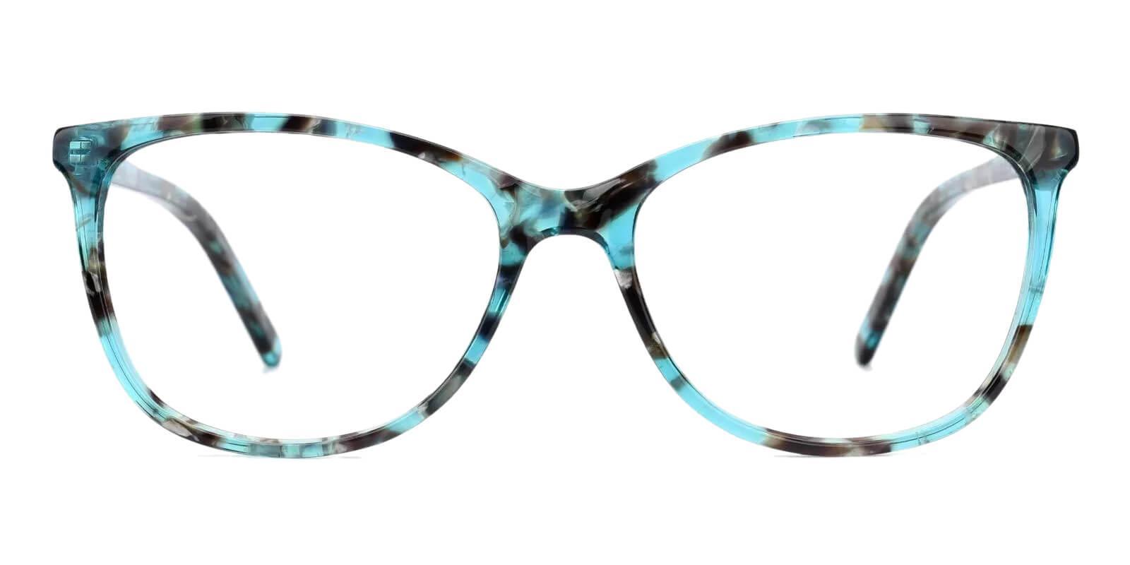 Viola Green Acetate Eyeglasses , Fashion , SpringHinges , UniversalBridgeFit Frames from ABBE Glasses