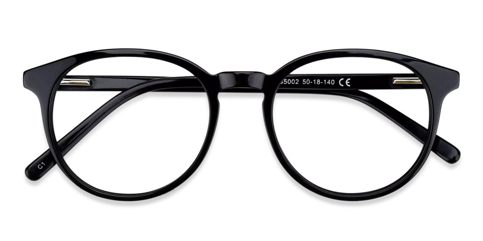 Tammy Black Acetate Eyeglasses , Fashion , SpringHinges , UniversalBridgeFit Frames from ABBE Glasses