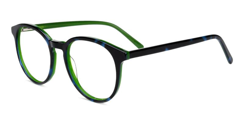 Green Tammy - Acetate ,Universal Bridge Fit