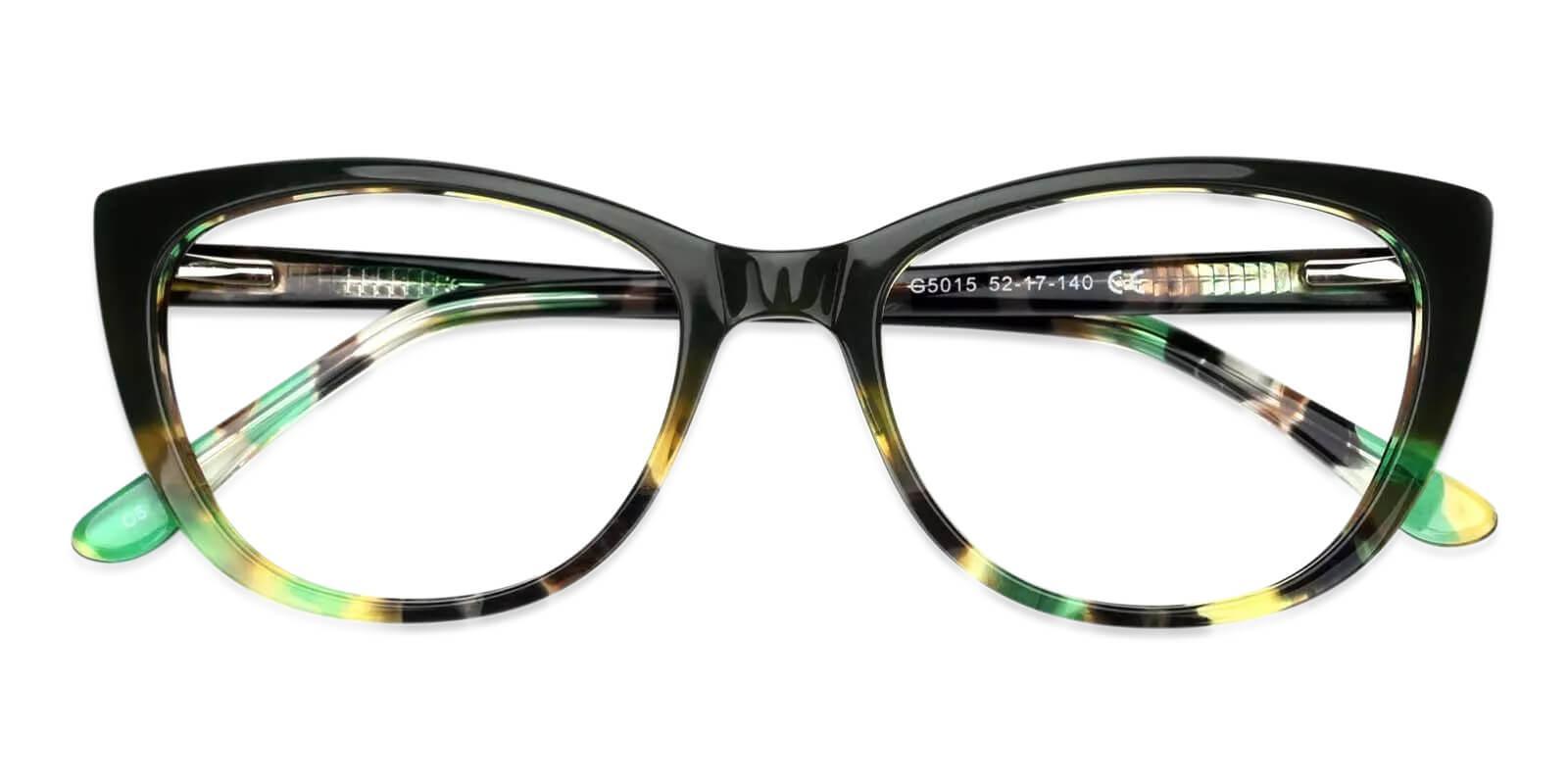 Freda Green Acetate Eyeglasses , Fashion , SpringHinges , UniversalBridgeFit Frames from ABBE Glasses