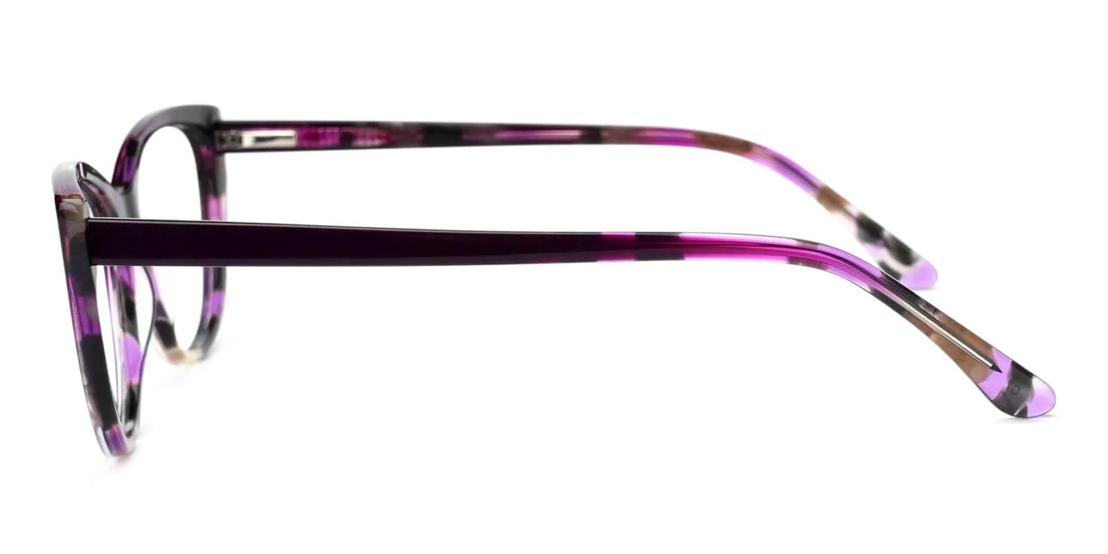 Freda Purple Acetate Eyeglasses , Fashion , SpringHinges , UniversalBridgeFit Frames from ABBE Glasses